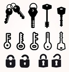 Icon Key Black Silhouette decorative items vector image vector image
