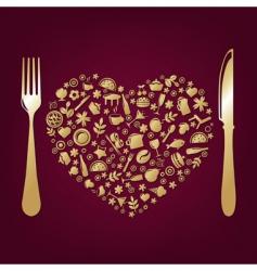 restaurant design vector image vector image