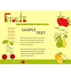 website template with fruit vector image vector image