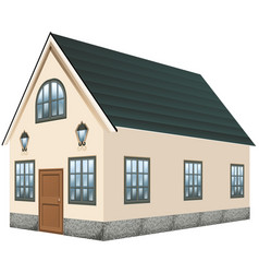3d design for house with gray roof vector image