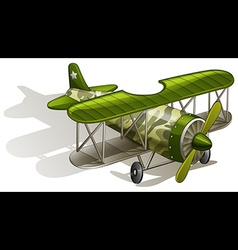 A green vintage plane vector