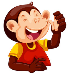 A happy monkey character vector