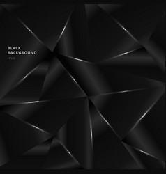 Abstract background black low polygon shape vector