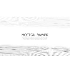 abstract digital wave white background vector image