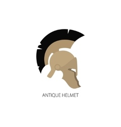 Antiques Roman Helmet Isolated on White vector image