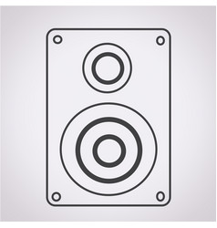 audio speakers icon vector image