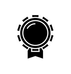 award good icon black sign vector image