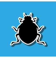 Beetle silhouette design vector