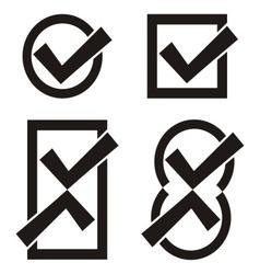 Black tick icons vector image