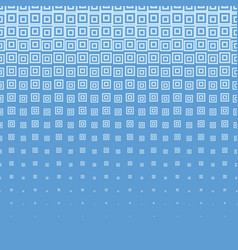 blue abstract halftone background with square vector image