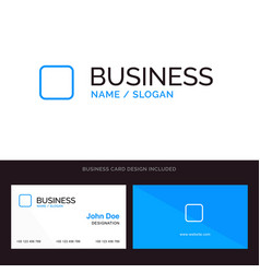 Box checkbox unchecked blue business logo and vector