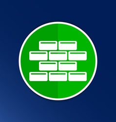 Brick wall icon button logo symbol vector