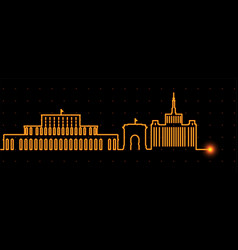 Bucharest light streak skyline vector