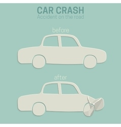 Car crash accident vector