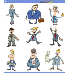 cartoon set of men or businessmen vector image