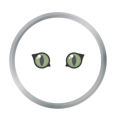 Cat eyes icon of for web and vector image
