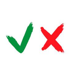 Check and wrong icons set check marks tick and vector