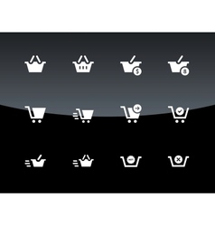 Checkout icons on black background vector image