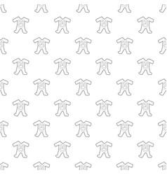 Children romper suit pattern seamless vector
