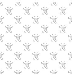 childrens romper suit pattern seamless vector image