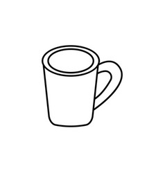 coffee cup casual lunch icon can be used for web vector image
