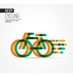 Colorful bicycle icon and symbol vector