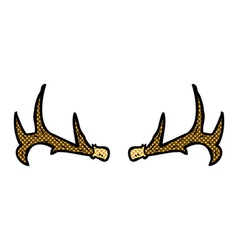 comic cartoon antlers vector image