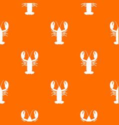 Crayfish pattern seamless vector