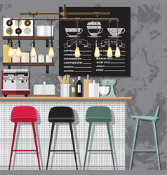 Creative coffee shop vector
