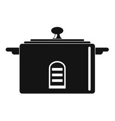 digital saucepan icon simple style vector image