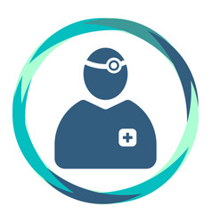 doctor icon with medical tools in abstract circle vector image