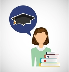 Education learning flat icons vector