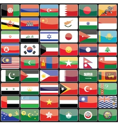 Elements of design icons flags of the countries vector