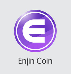 Enjin coin digital currency coin icon of vector