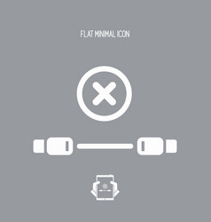 error usb cable - flat minimal icon vector image