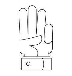 finger up icon outline style vector image