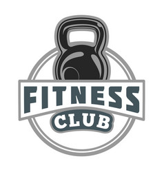 Fitness club badge image vector