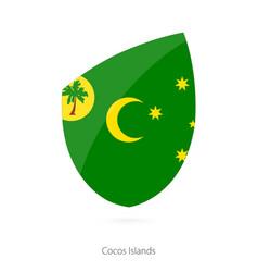 Flag cocos islands vector