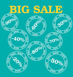 Flat design sale discount sale vector