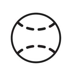 Flat icon in black and white style tennis ball vector