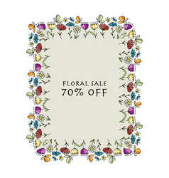 floral banner for your design vector image