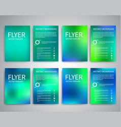 Flyer design templates vector