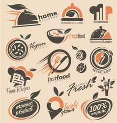Food and restaurant logo designs vector