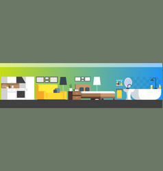 furniture and home accessories banner with flat vector image