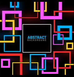 geometric shapes poster abstract modern business vector image
