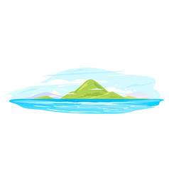 Green island group in sea isolated vector