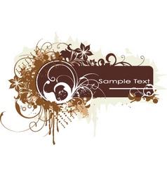 Grunge floral graphic banner vector
