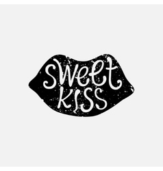 hand drawn sweet kiss vector image