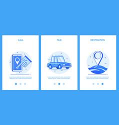 icons taxi service - call taxi destination vector image