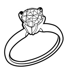 Isolated ring outline vector